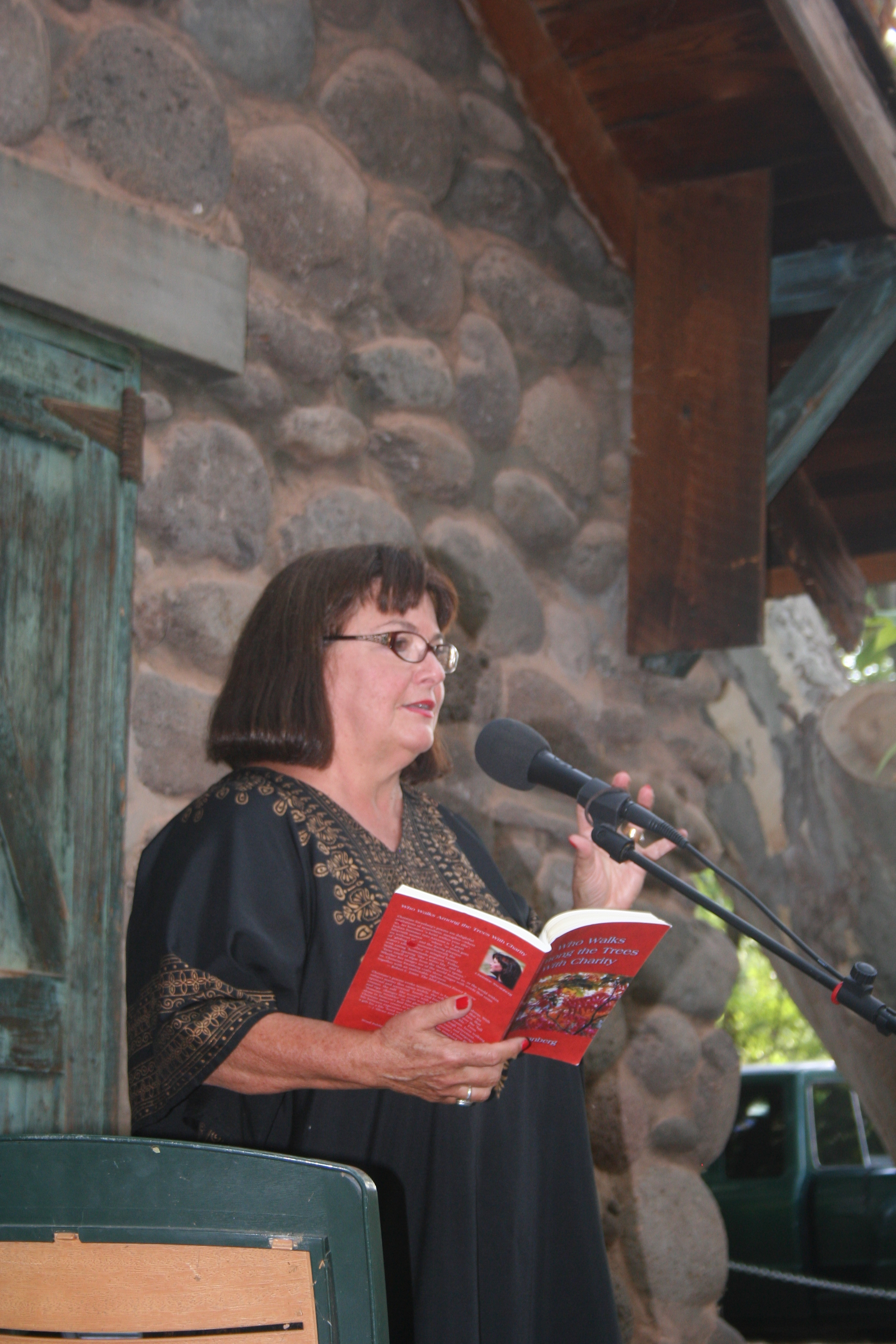 Reading in Sedona.